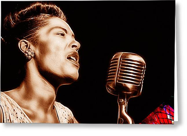 Billie Holiday Collection Greeting Card by Marvin Blaine