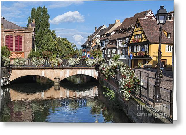 Canals Of Colmar Greeting Card by Yefim Bam