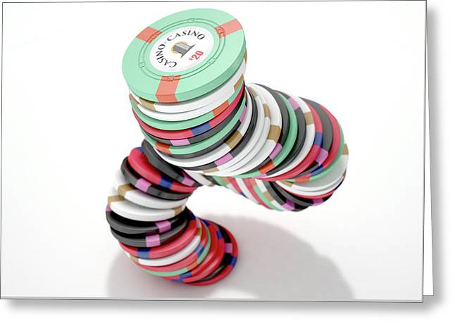 Casino Chips Greeting Card
