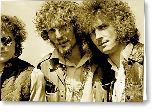 Cream Eric Clapton Jack Bruce Ginger Baker Greeting Card