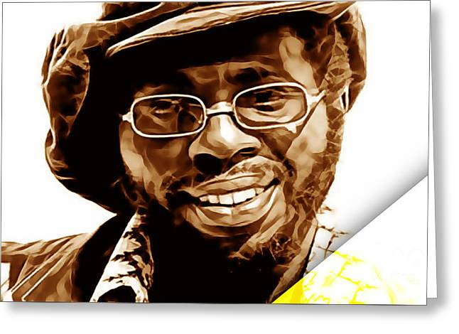 Curtis Mayfield Collection Greeting Card by Marvin Blaine