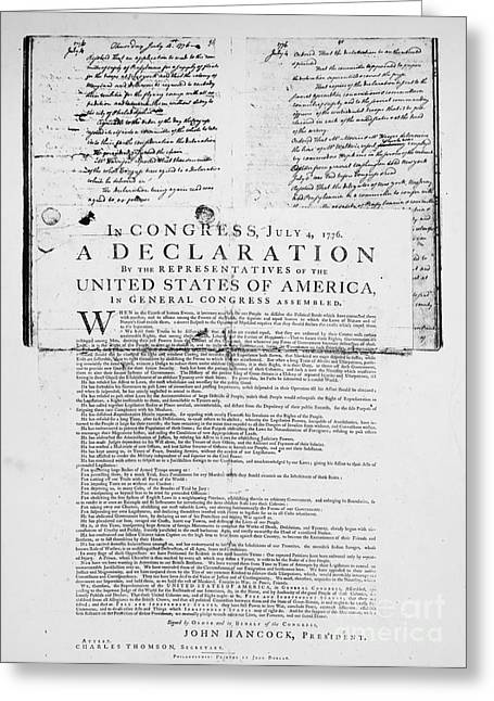 Declaration Of Independence Greeting Card by Granger