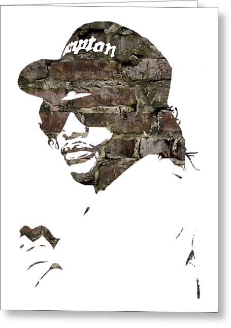 Eazy E Straight Outta Compton Greeting Card by Marvin Blaine
