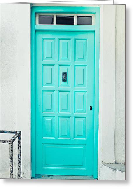 Front Door Greeting Card by Tom Gowanlock