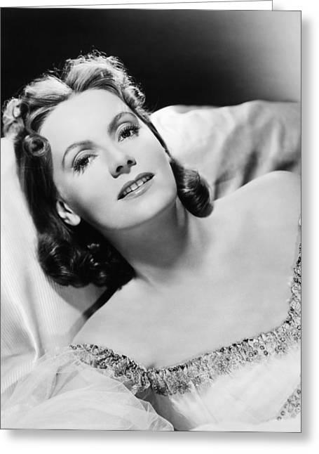 1939 Movies Greeting Cards - Greta Garbo (1905-1990) Greeting Card by Granger