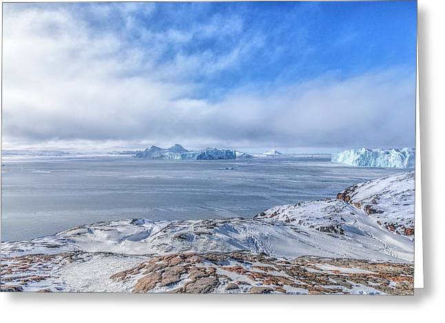 Icefjord - Greenland Greeting Card