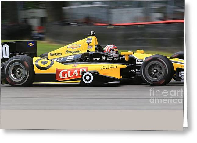 Indycar Performance Greeting Card by Douglas Sacha