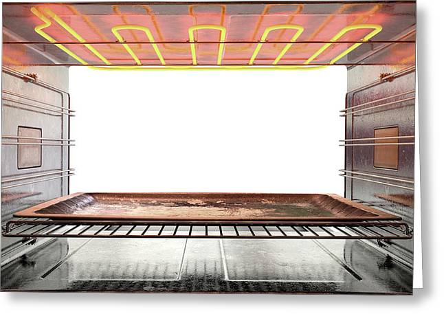 Inside The Oven Greeting Card