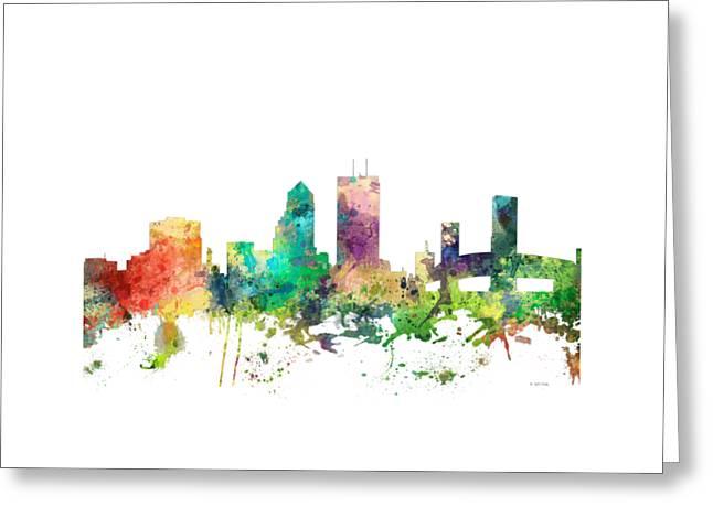Jacksonville Florida Skyline Greeting Card by Marlene Watson