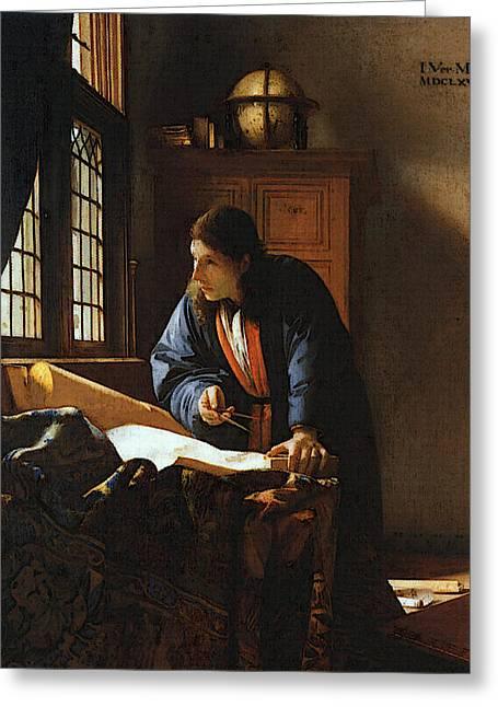 Jan Vermeer    Greeting Card