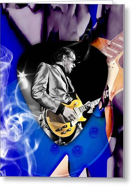 Joe Bonamassa Blues Guitarist Art Greeting Card by Marvin Blaine