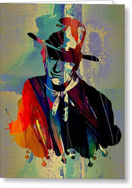 John Wayne Collection Greeting Card by Marvin Blaine
