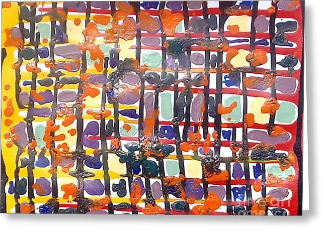 Jugglery Of Colors Greeting Card by Baljit Chadha