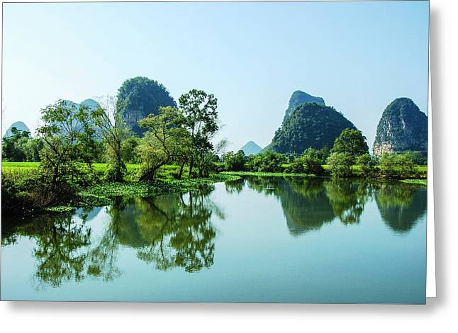 Karst Rural Scenery Greeting Card