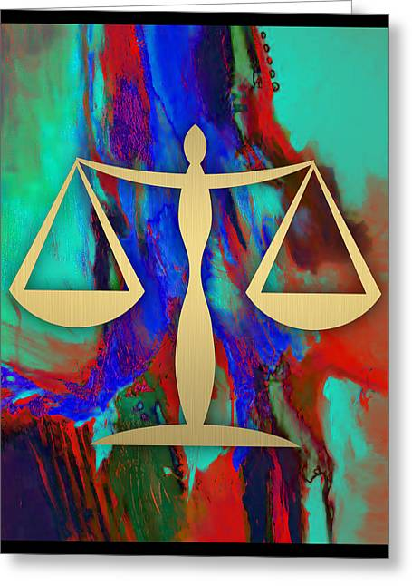 Law Office Collection Greeting Card by Marvin Blaine