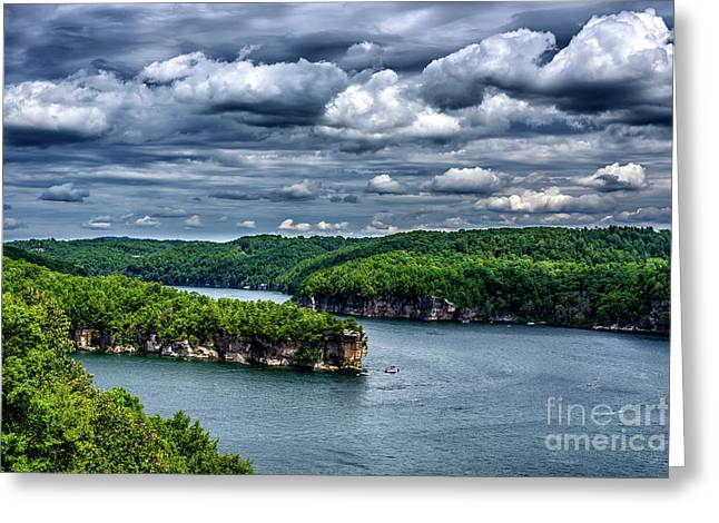 Long Point Summersville Lake Greeting Card by Thomas R Fletcher