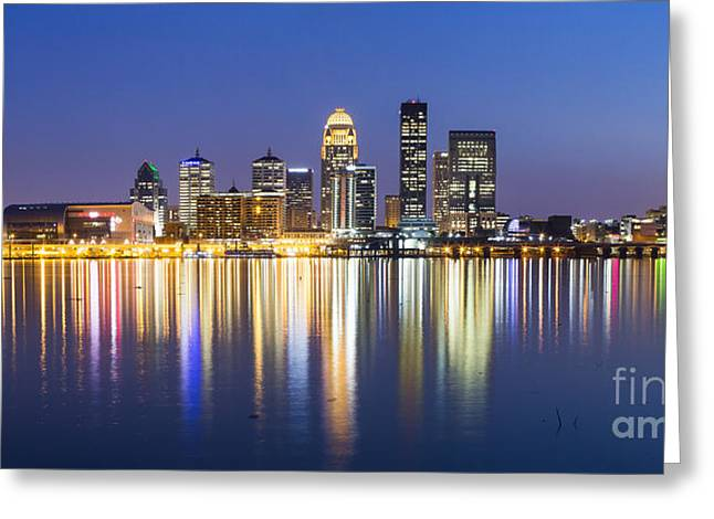 Louisville, Kentucky Skyline Greeting Card by Twenty Two North Photography