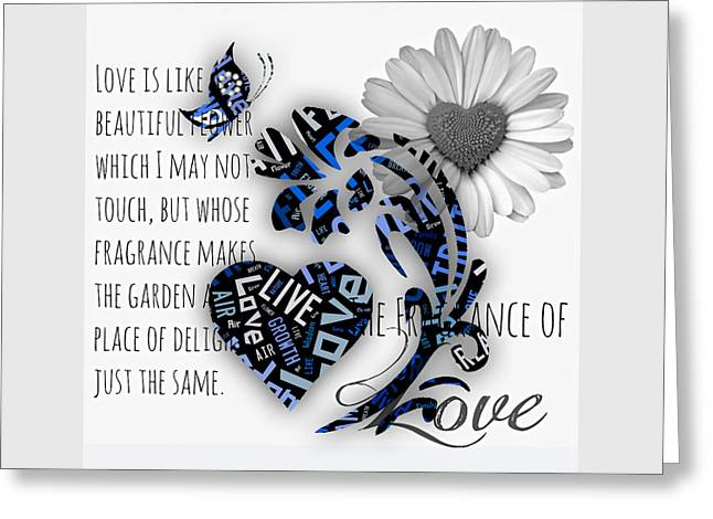 Love Greeting Card by Marvin Blaine
