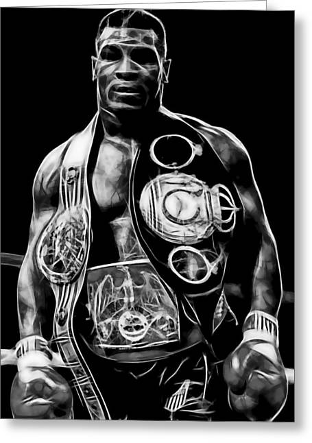 Mike Tyson Collection Greeting Card by Marvin Blaine