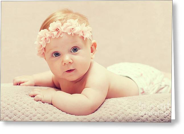 Greeting Card featuring the photograph Newborn Fine Portrait by Gualtiero Boffi
