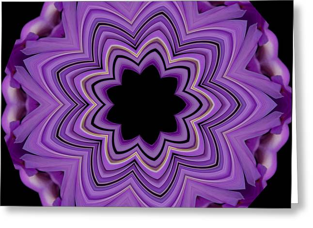 9 Petaled Design Greeting Card by Baha'i Writings As Art