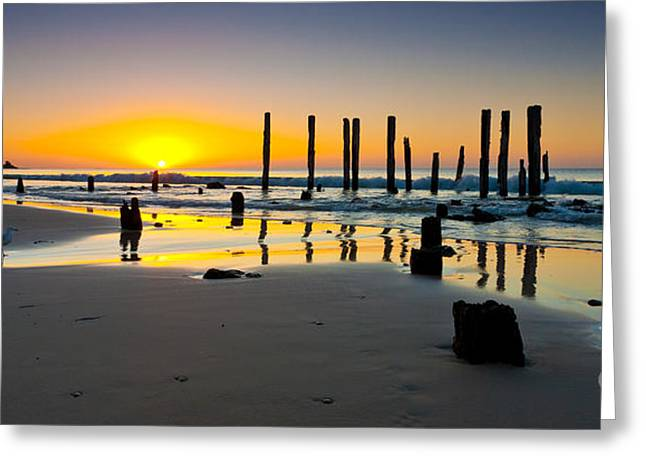 Port Willunga Sunset Greeting Card by Bill  Robinson