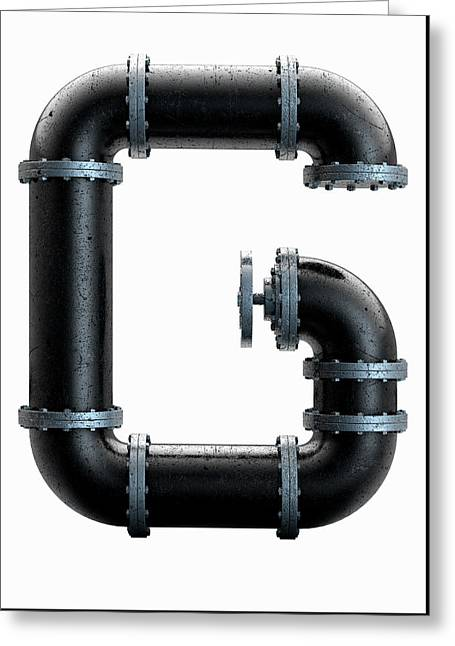 Pvc Pipe Letter Concept Greeting Card