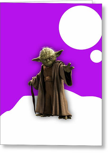 Star Wars Yoda Collection Greeting Card by Marvin Blaine