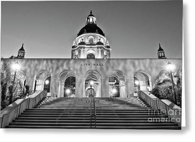 The Beautiful Pasadena City Hall. Greeting Card by Jamie Pham