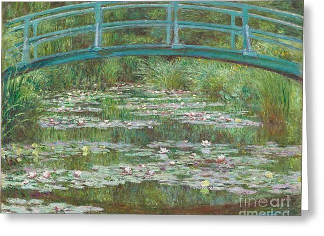 The Japanese Footbridge Greeting Card by Claude Monet