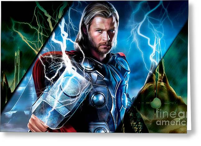 Thor Collection Greeting Card by Marvin Blaine