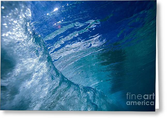 Underwater Wave Greeting Card by Vince Cavataio - Printscapes