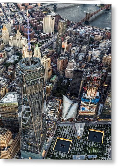 911 Reflecting Pools Aerial View II Greeting Card