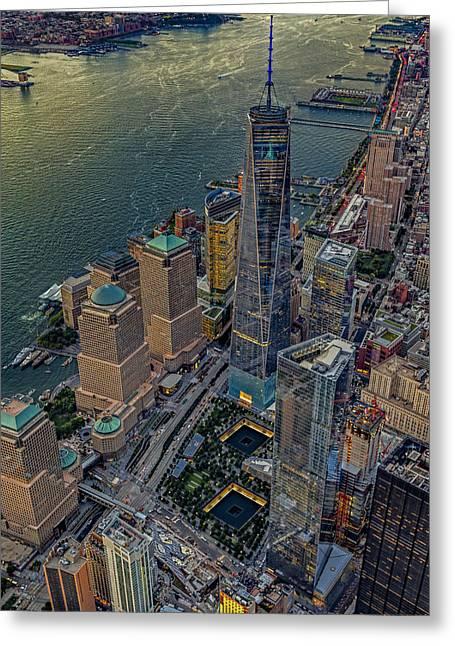 911 Reflecting Pools Aerial View Greeting Card