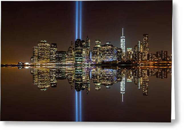 911 Reflection Greeting Card
