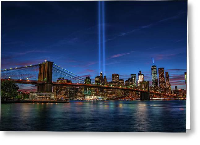 911 Tribute 15 Years Later 1 Greeting Card by Dennis Clark