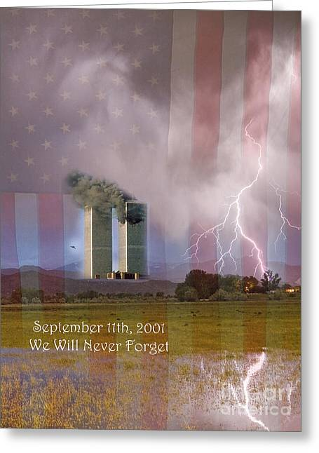 911 We Will Never Forget Greeting Card by James BO  Insogna
