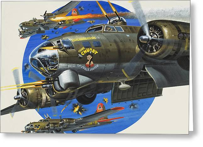91st Usaaf Bombardment Group Greeting Card