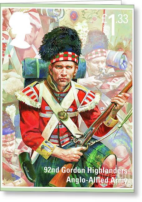 92nd Gordon Highlanders Greeting Card