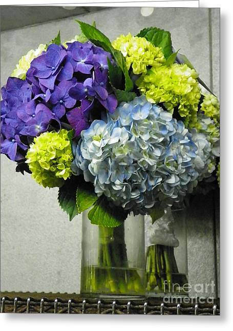 #935 D1002 Fascinating Bouquet Of Hydrangea Blooms Greeting Card by Robin Lee Mccarthy Photography