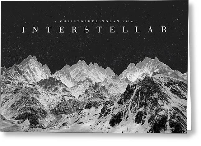 95026 Interstellar Movie Christopher Nolan Movies Hollywood Fan Art Greeting Card