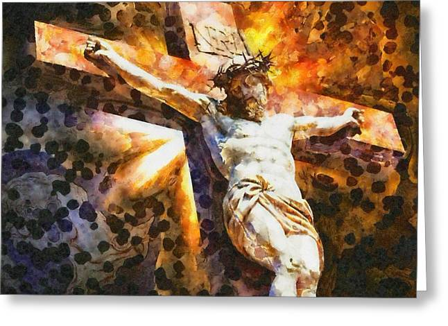 Jesus Christ - Religious Art Greeting Card