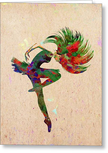 Dance Greeting Card by Elena Kosvincheva