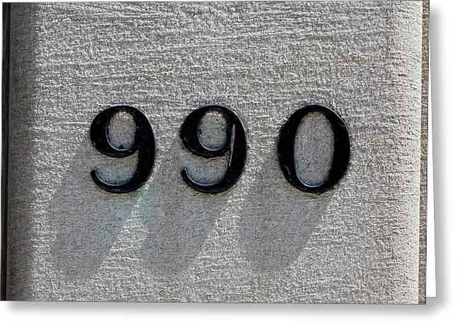 990 Greeting Card by Robert Ullmann