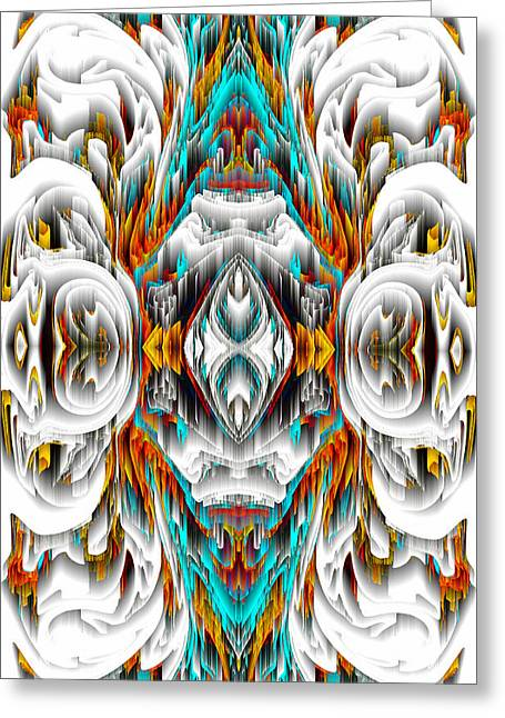 Greeting Card featuring the digital art 992.042212mirror2ornategold-1-a by Kris Haas
