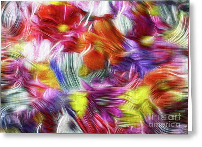 9a Abstract Expressionism Digital Painting Greeting Card