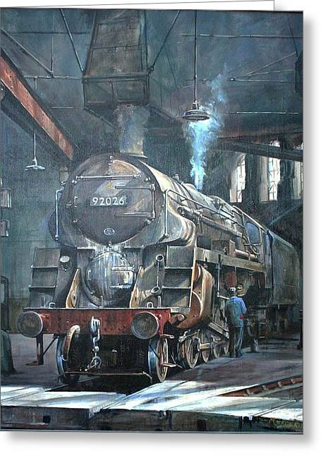 9f On Saltley Shed 1958. Greeting Card