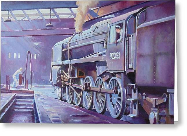 9f On Shed. Greeting Card