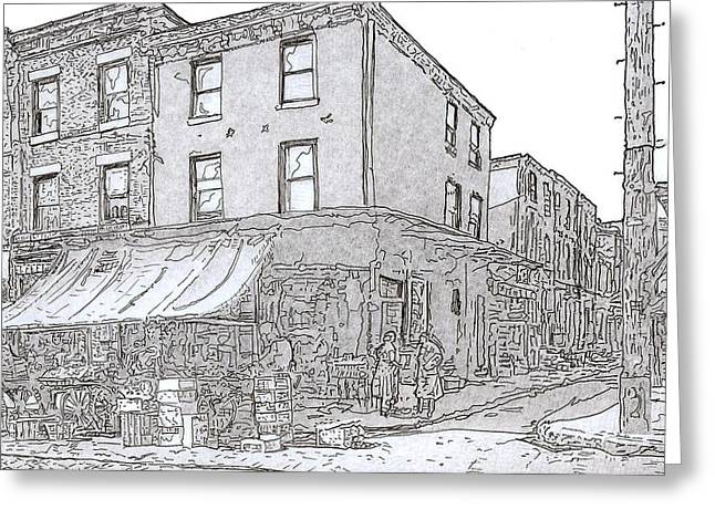 9th And League St.,phila.,pa  1954 Greeting Card by Michael Cifone