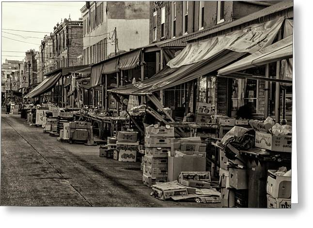 Greeting Card featuring the photograph 9th Street Italian Market - Philadelphia Pennsylvania by Bill Cannon